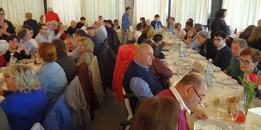 2019 aprile AIAS, ANAFiM e amici insieme per scambio di auguri di Pasqua