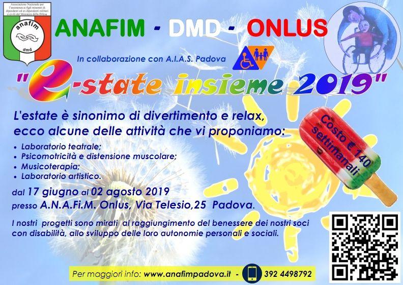 Progetto associazioni AIAS e ANAFiM Padova Estate insieme 2019