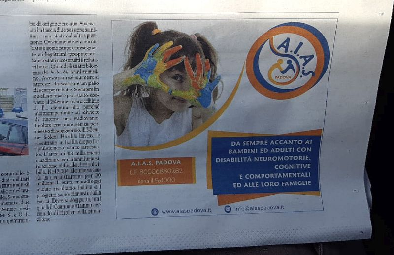 Sul Mattino di Padova presentato il nuovo logo di AIAS Padova