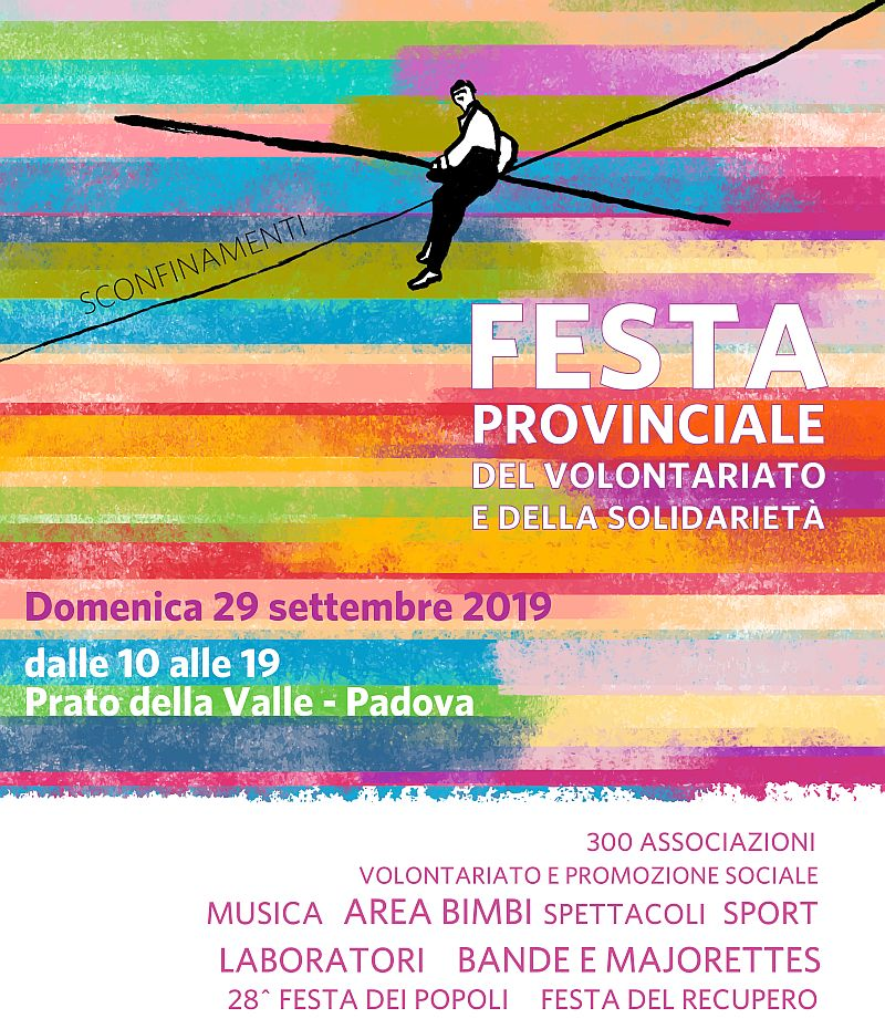AIAS Padova alla Festa del Volontariato e della Solidarietà 2019 locandina