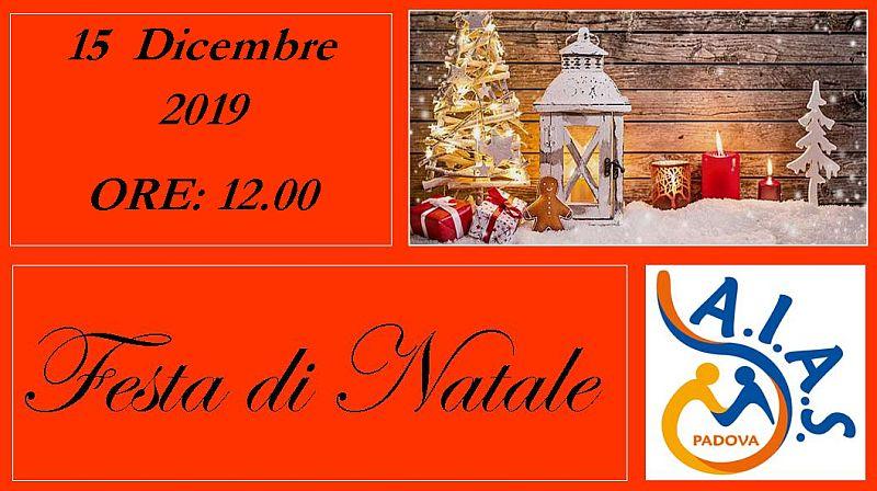 AIAS Padova pranzo Festa di Natale 2019