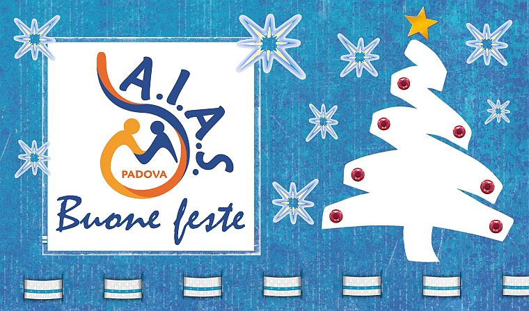 cartolina AIAS Padova Buone feste Natalizie 2019