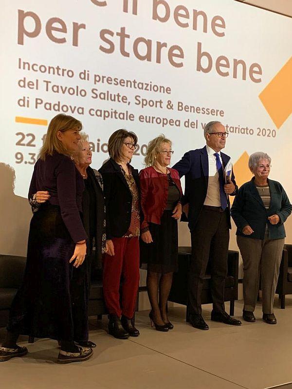 AIAS Padova al convegno Sport Salute e Benessere del 22 febbraio 2020 sul palco