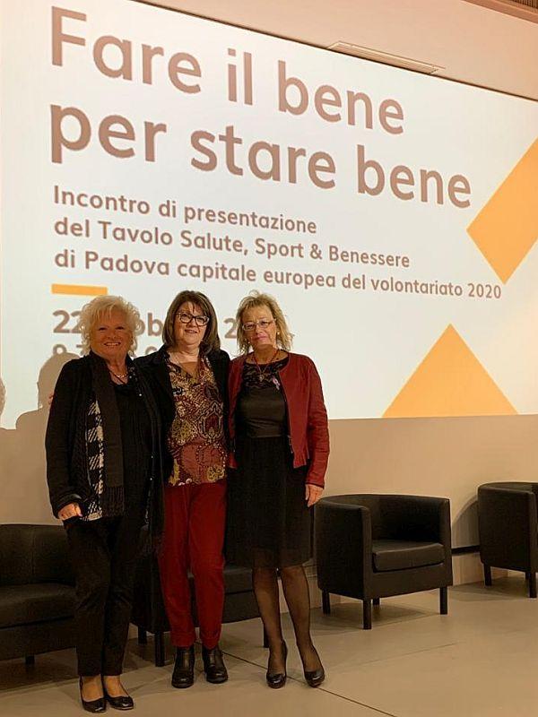 Presidente AIAS Padova al convegno Sport Salute e Benessere del 22 febbraio 2020